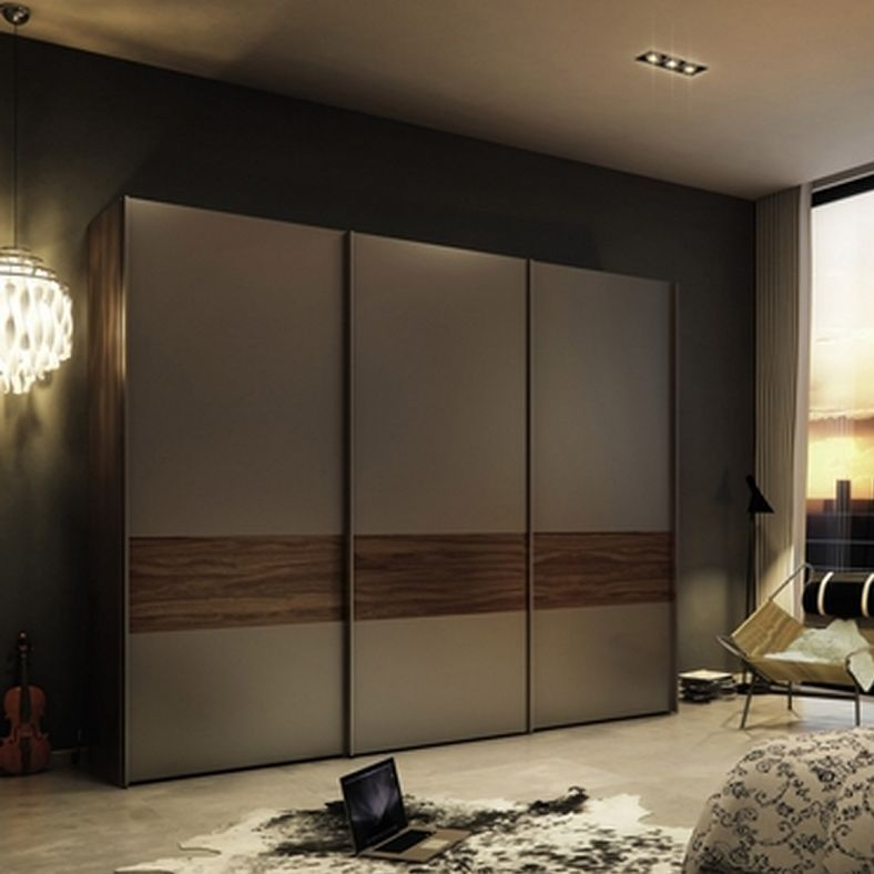 Wardrobe with sliding doors hpd438 sliding door for Armoire salon design