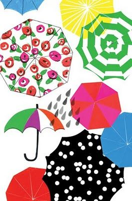 Kate Spade umbrella art
