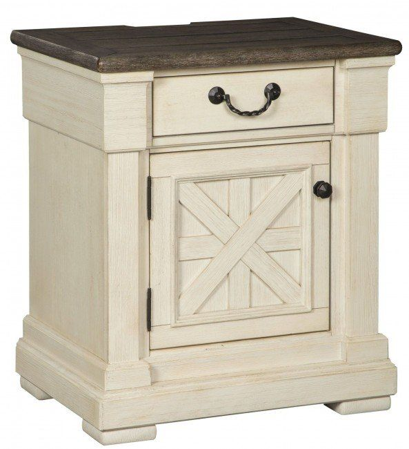 Best Bolanburg Two Tone One Drawer Nightstand In 2020 White 640 x 480