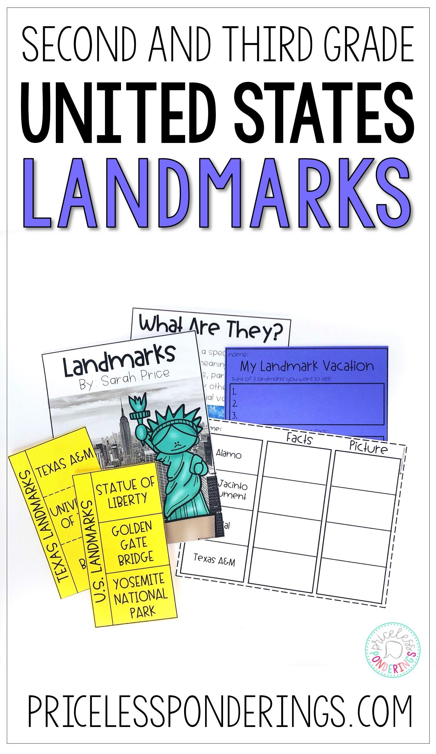 U S Landmarks Worksheets And Activities