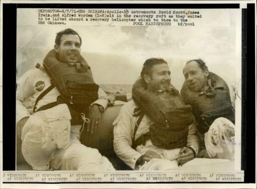 Dave Scott, Jim Irwin and Al Worden - Apollo 15 ...