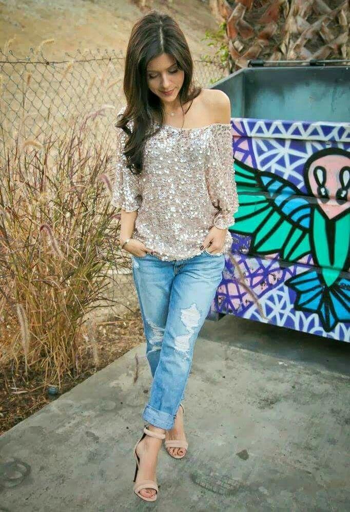 63eb36f5c306 Blusa dorada | modelos de blusas | Moda estilo, Moda y Blusas de moda