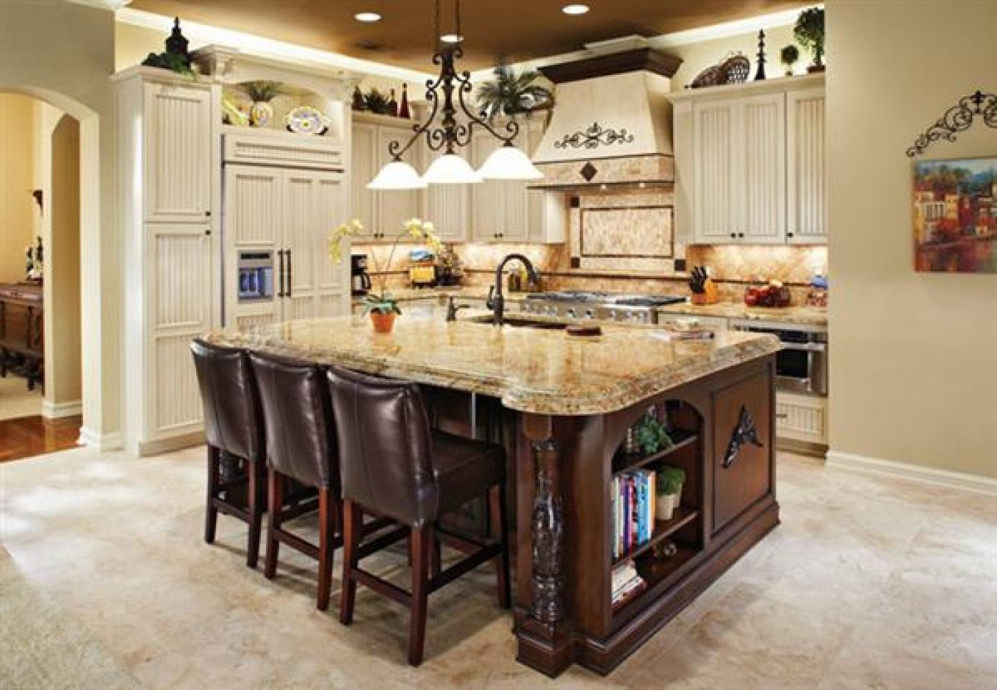 Formal Country Kitchen Cabinets Kitchens Designed In The Formal Country  Style Use Open Cabinets Painted In