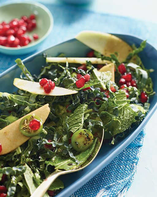 Padma Lakshmi's Kale & Apple Salad | Apple salad, Kale ...