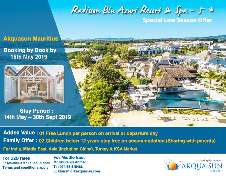 Radisson Blu Azuri Resort Resort Travel Agent Port Louis
