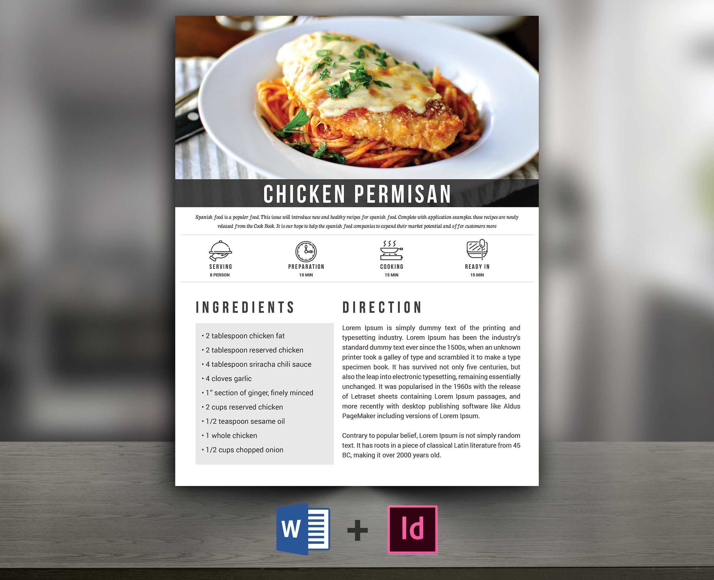 Ms Word Cookbook Template from i.pinimg.com