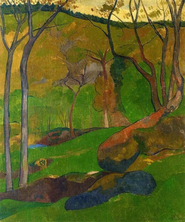 """""""Undergrowth at Huelgoat"""" by French painter Paul Sérusier, c. 1905."""