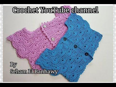 بوليرو صيفي لأي مقاس صدر فستان بغرزة المروحة قناة كروشيه يوتيوب Youtube Crochet Baby Clothes Crochet Baby Dress Baby Girl Crochet