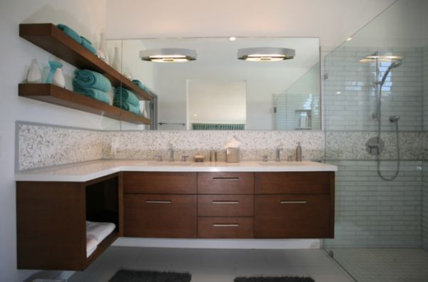 How To Take Advantage Of Floating Vanities To Make Bathrooms Spacious Floating Bathroom Vanities Modern Bathroom Vanity Bathroom Vanity