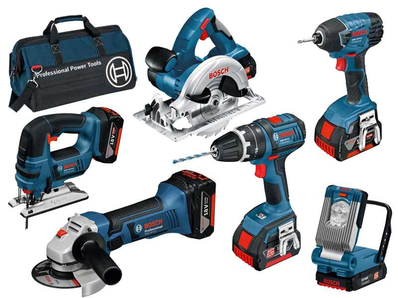 Bosch Bag 6ds 18v 6 Piece Cordless Tool Kit With 3 X 4 0ah In Bag Cordless Tools Tools Tool Kit