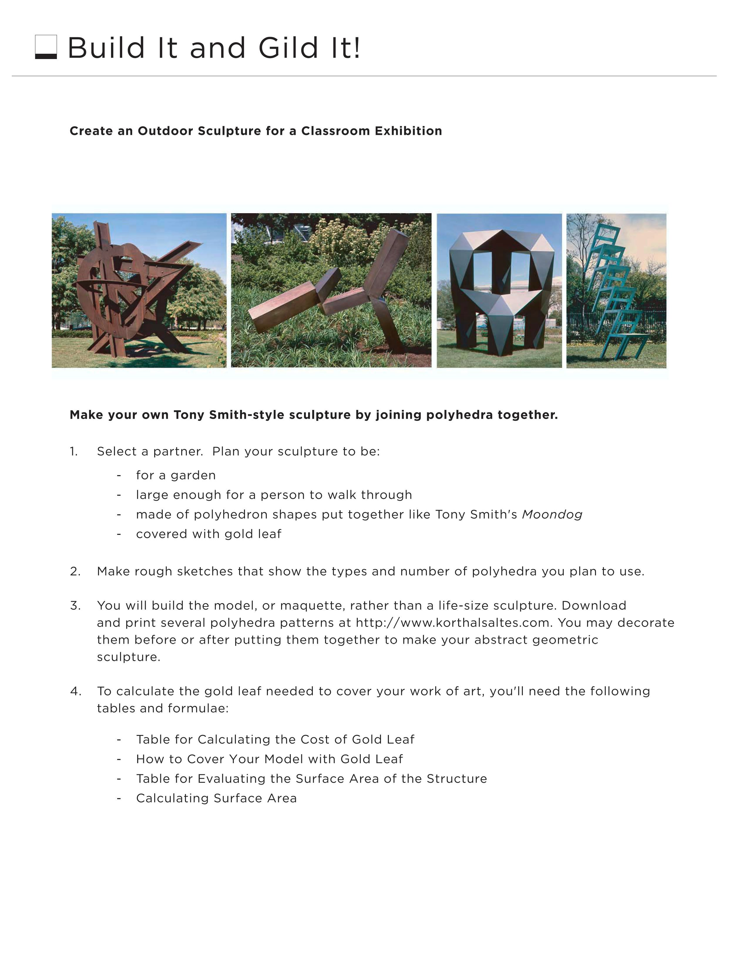 Build It And Gild It Worksheet Students Will Design A