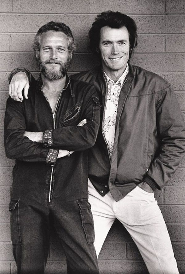 Paul Newman and Clint Eastwood Awesome People Hanging Out Together | Abduzeedo Design Inspiration