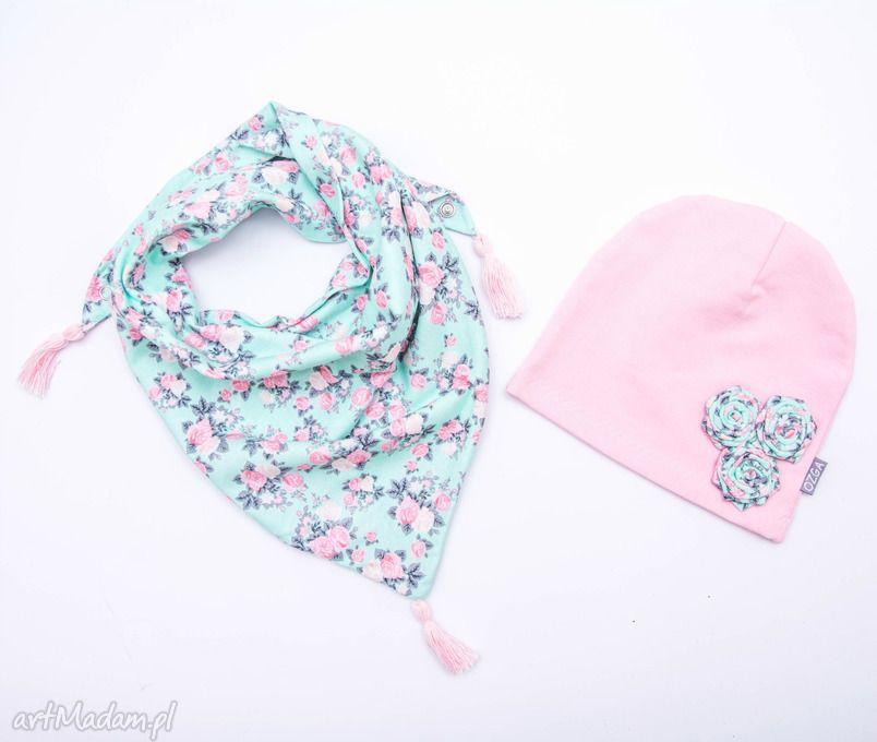 handmade czapki komplet dla dziewczynki czapka i komplet | шапки ...