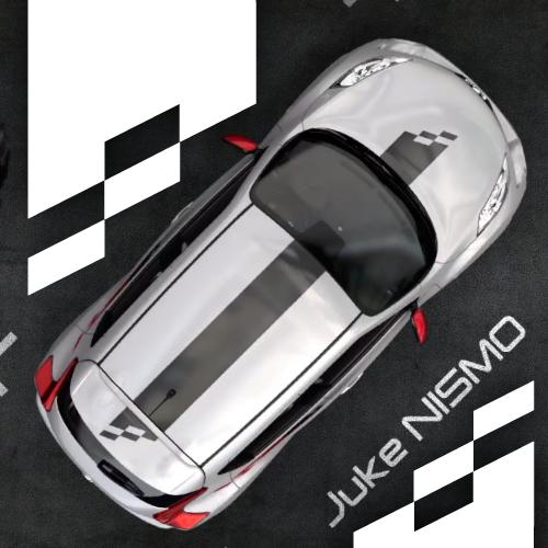 kit stickers bandes nissan juke nismo stickers voiture bande et voiture sportive. Black Bedroom Furniture Sets. Home Design Ideas