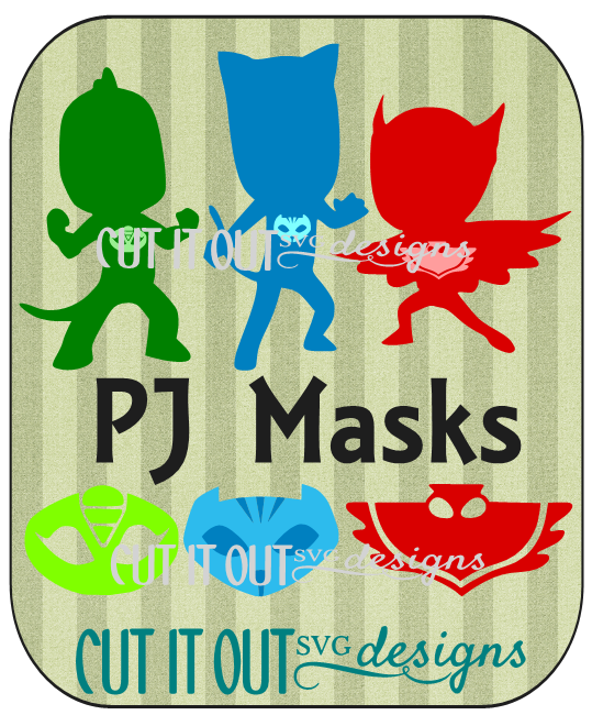 PJ Masks SVG and Studio files Pj mask, Pj masks birthday