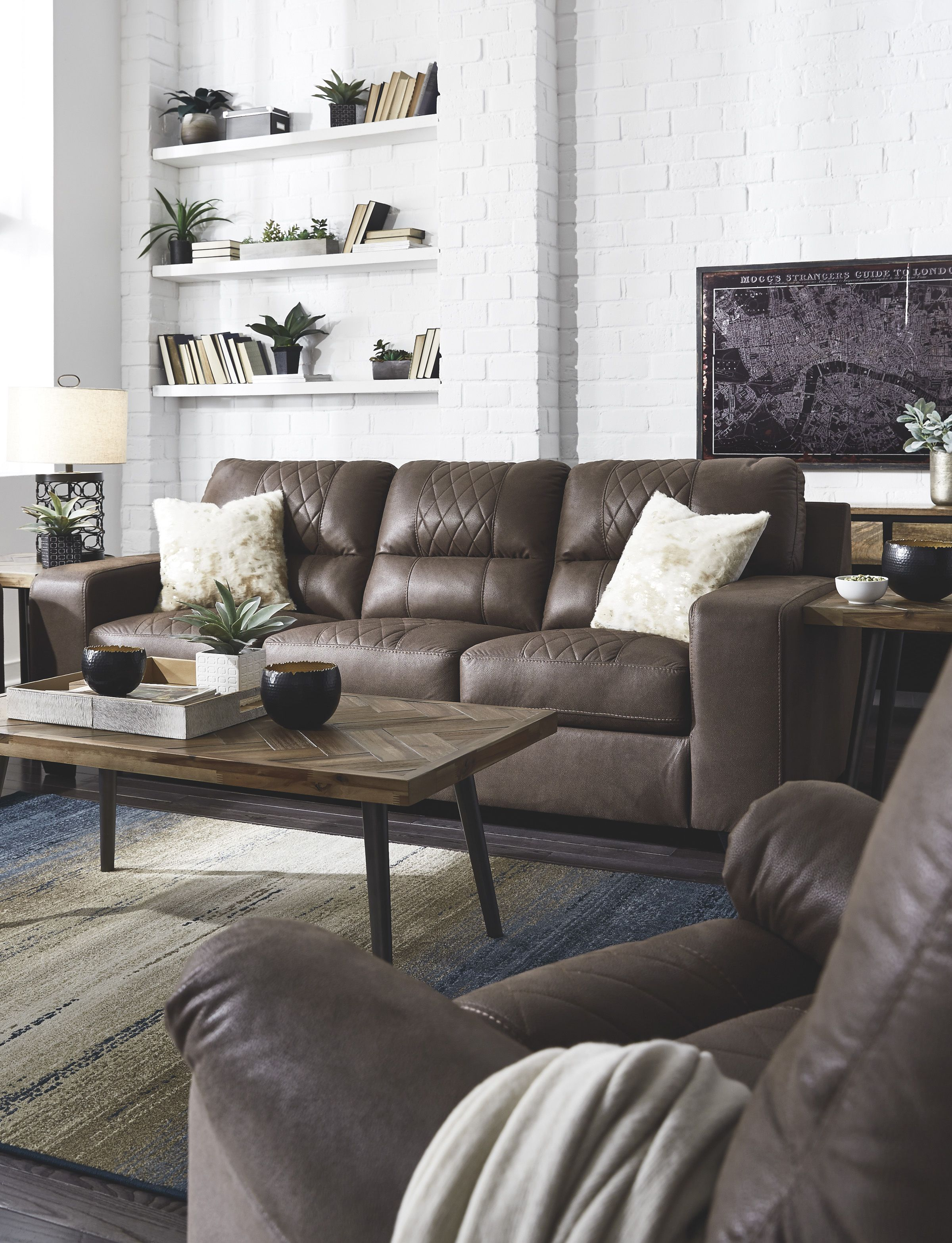 Ashley Narzole Coffee Sofa Homemakers Furniture In 2019 Interior