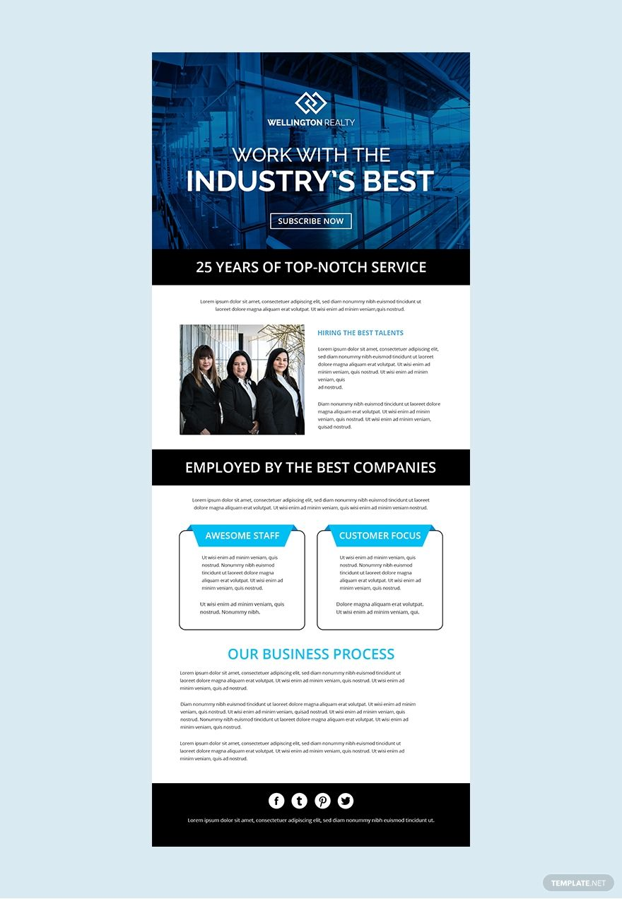 Business Email Template Free from i.pinimg.com