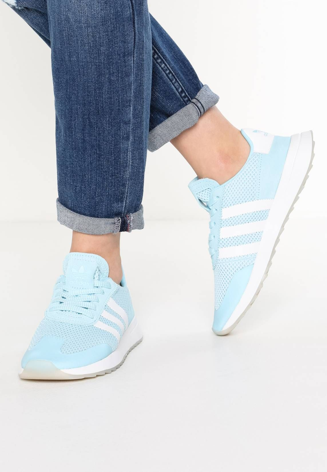 cheaper 302a6 80719 adidas Originals. FLASHBACK - Trainers - ice bluepearl grey. PatternPrint