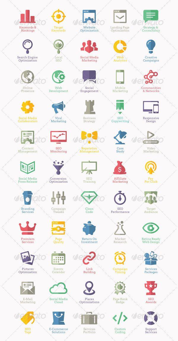 55 Flat Seo Service And Web Design Icons Web Design Icon Icon Design Web Design