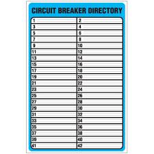Image Result For Siemens Electrical Panel Label Template Circuit Breaker Panel Circuit Breaker Label Breaker Panel