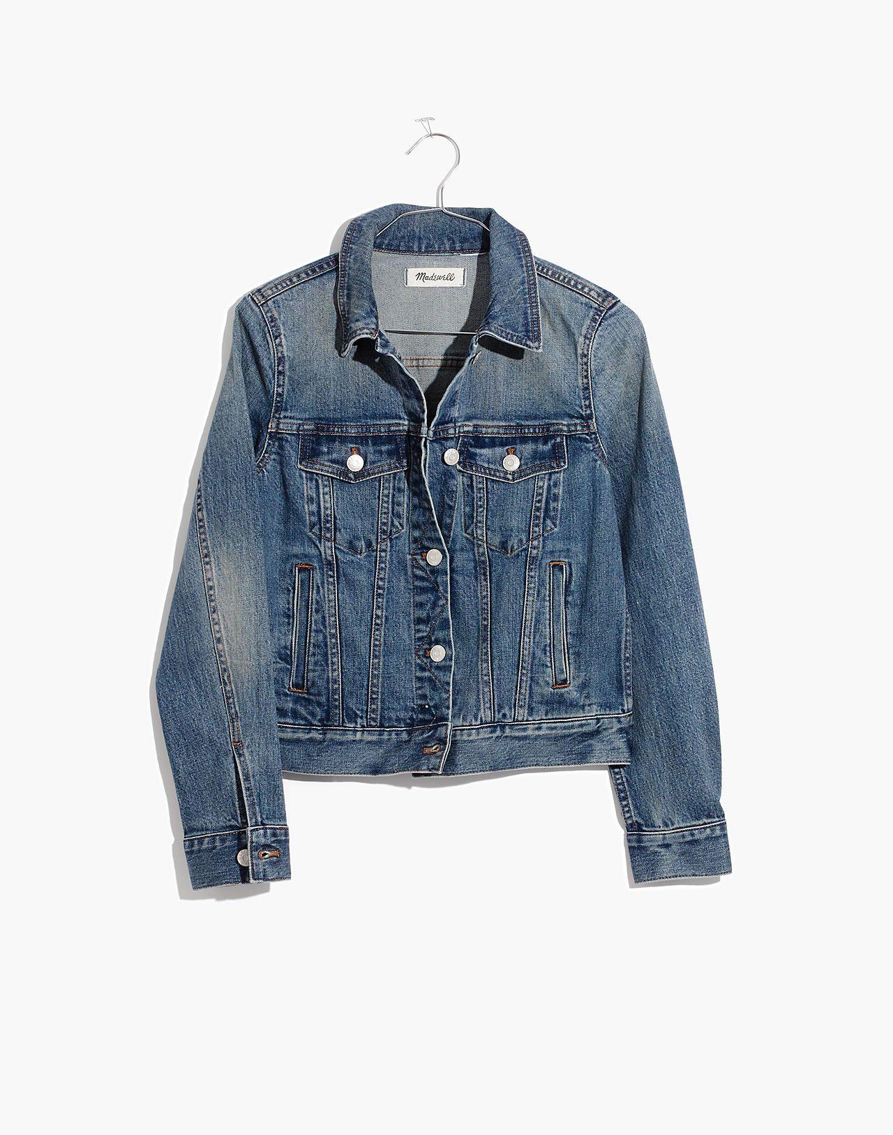 Women S Shrunken Stretch Jean Jacket Cute Jean Jackets Worn Jean Jacket Jackets [ 1626 x 1280 Pixel ]