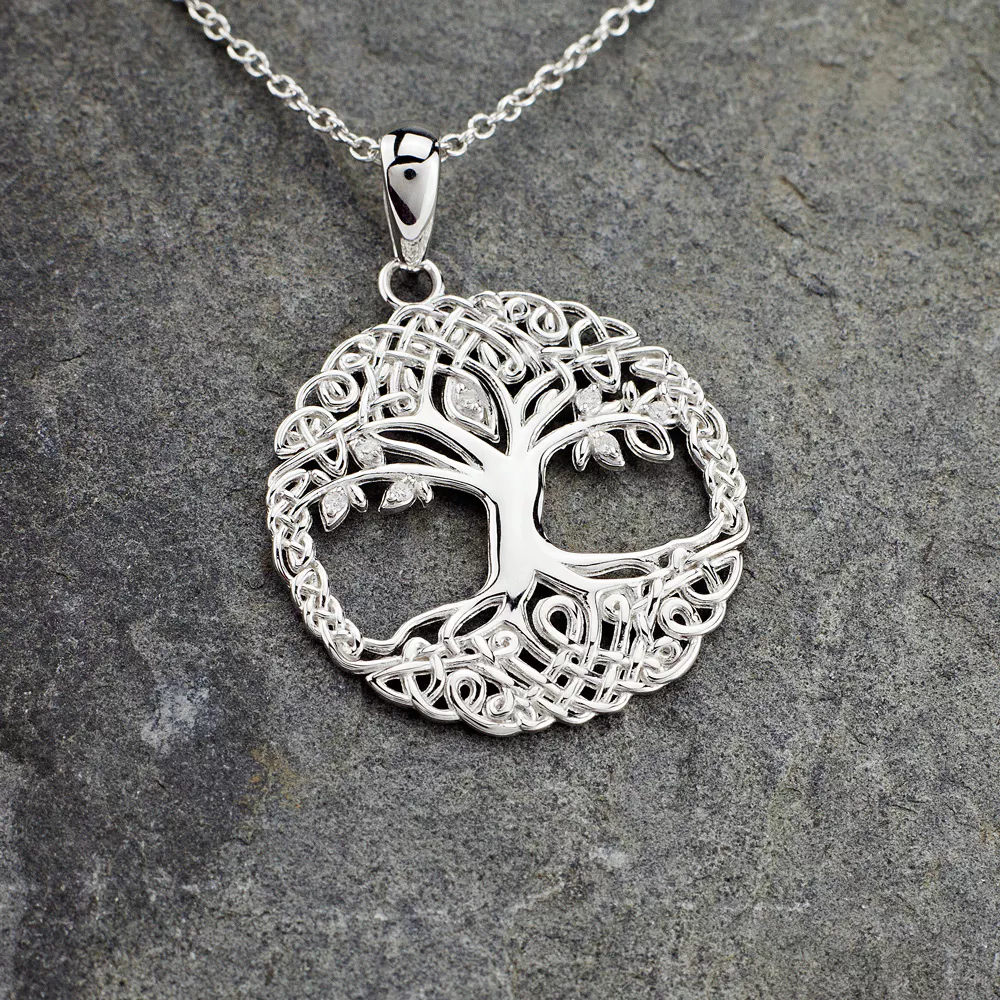 Sterling Silver Celtic Tree of Life Necklace Tree of