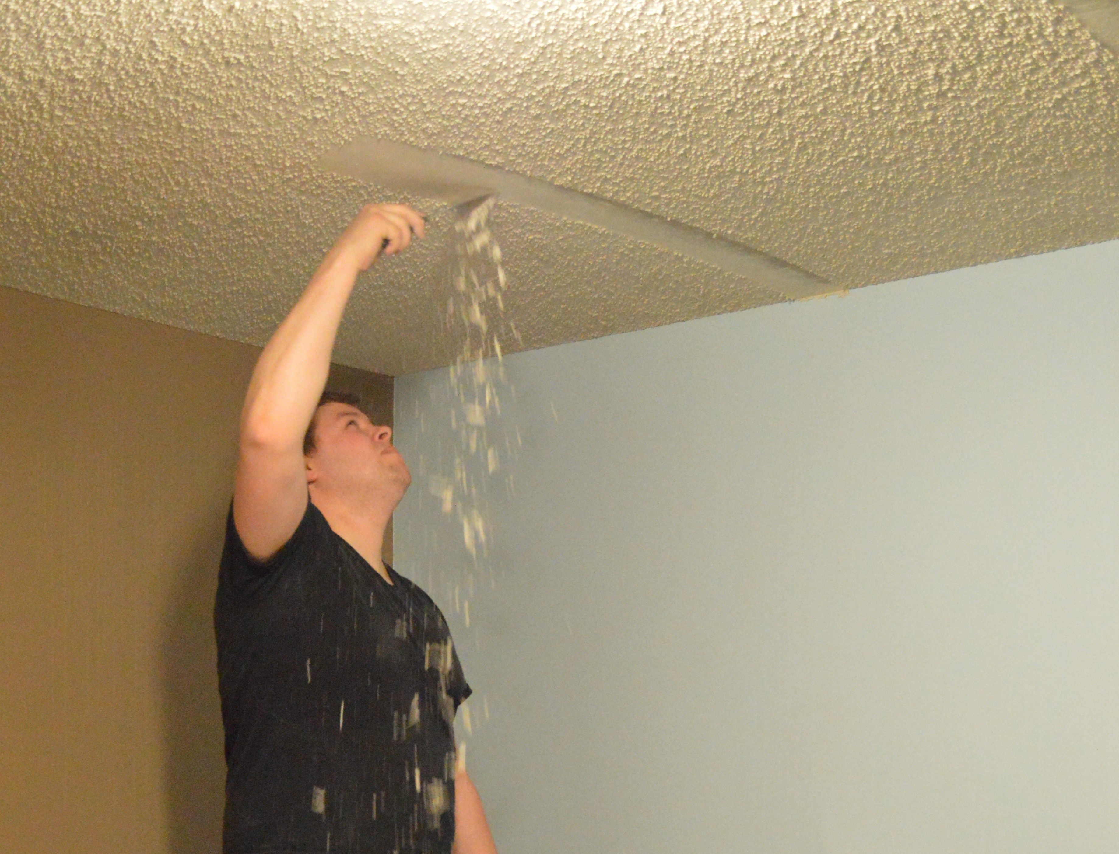 The Simple Trick To Remove Popcorn Ceilings