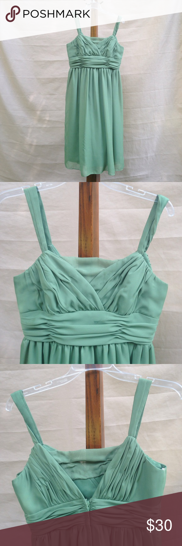 Sage green formal dress comes with a purse green formal dresses