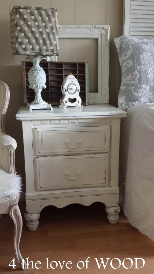 4 the love of wood where to find furniture legs distressed white nightstands painting. Black Bedroom Furniture Sets. Home Design Ideas