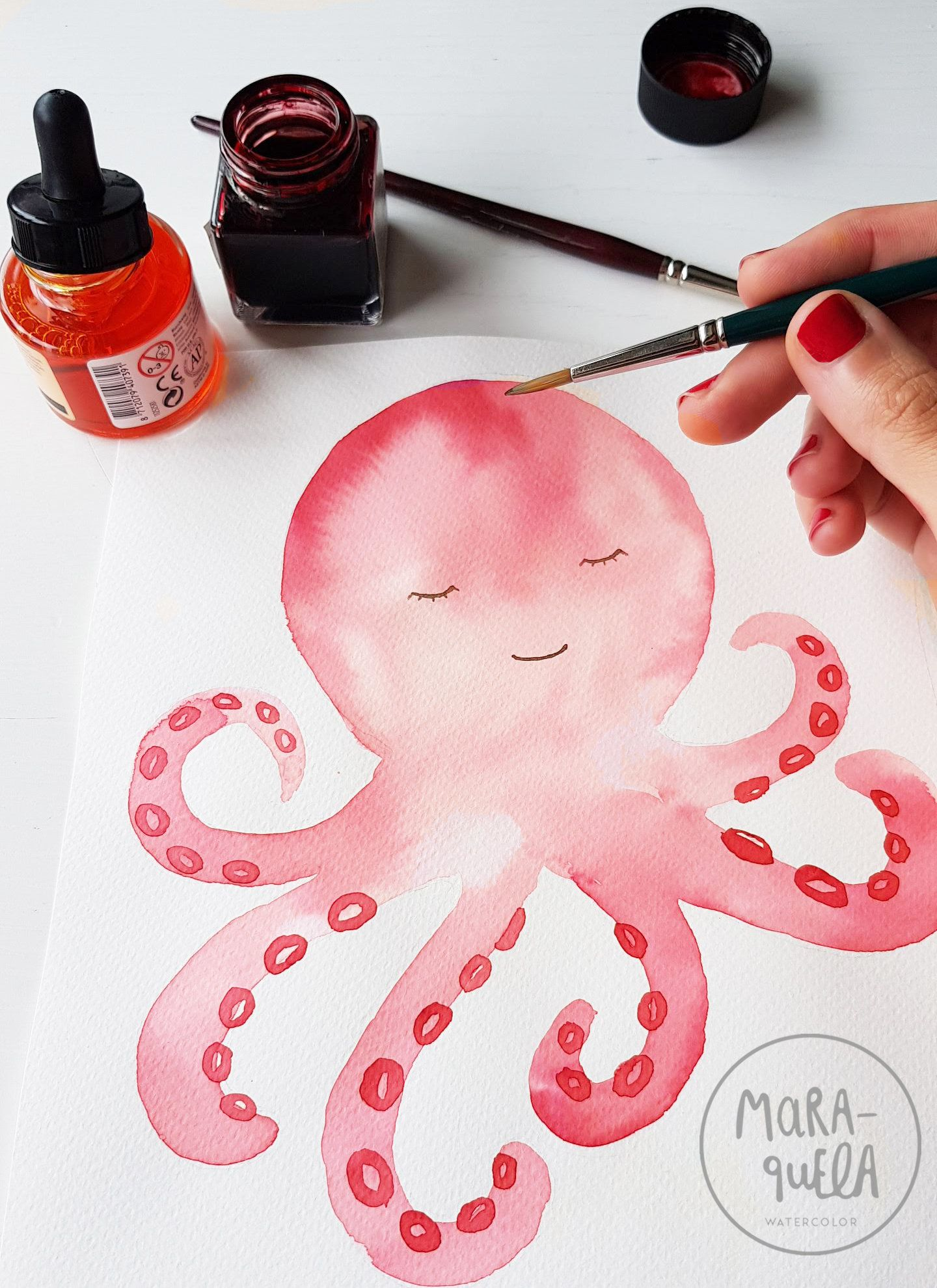 Set Animales Marinos / Watercolor Marine Animals