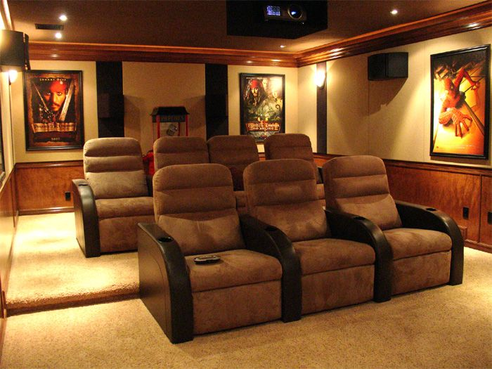 LED Backlit Movie Poster Frame X Room Movie Rooms And - Awesome media room designs