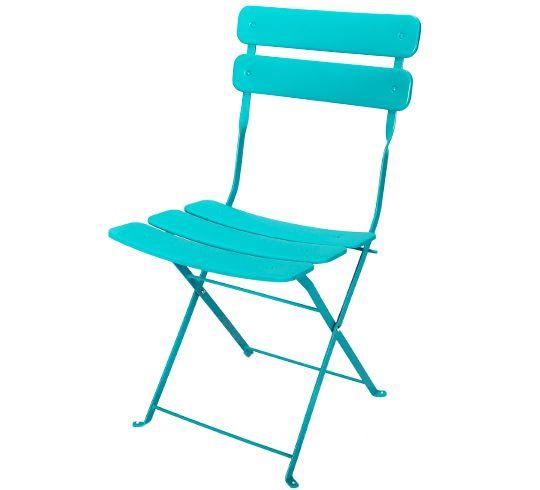 Pliante Chaise De Bleu Jardin Turquoise MatCancera bf6Y7gy
