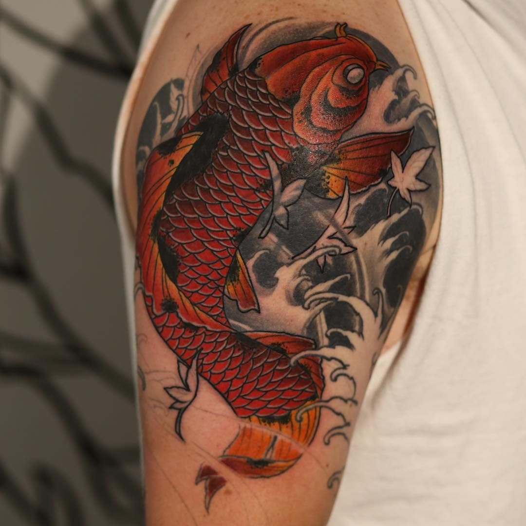 Koi fish Tattoo 53 | Tattoos | Pinterest | Koi fish tattoo, Fish ...