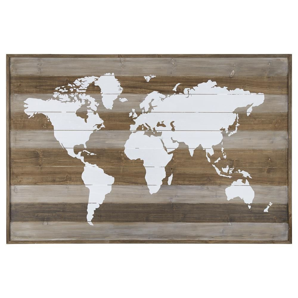 d coration murale en bois map du monde art mural d cor mural map pinterest. Black Bedroom Furniture Sets. Home Design Ideas