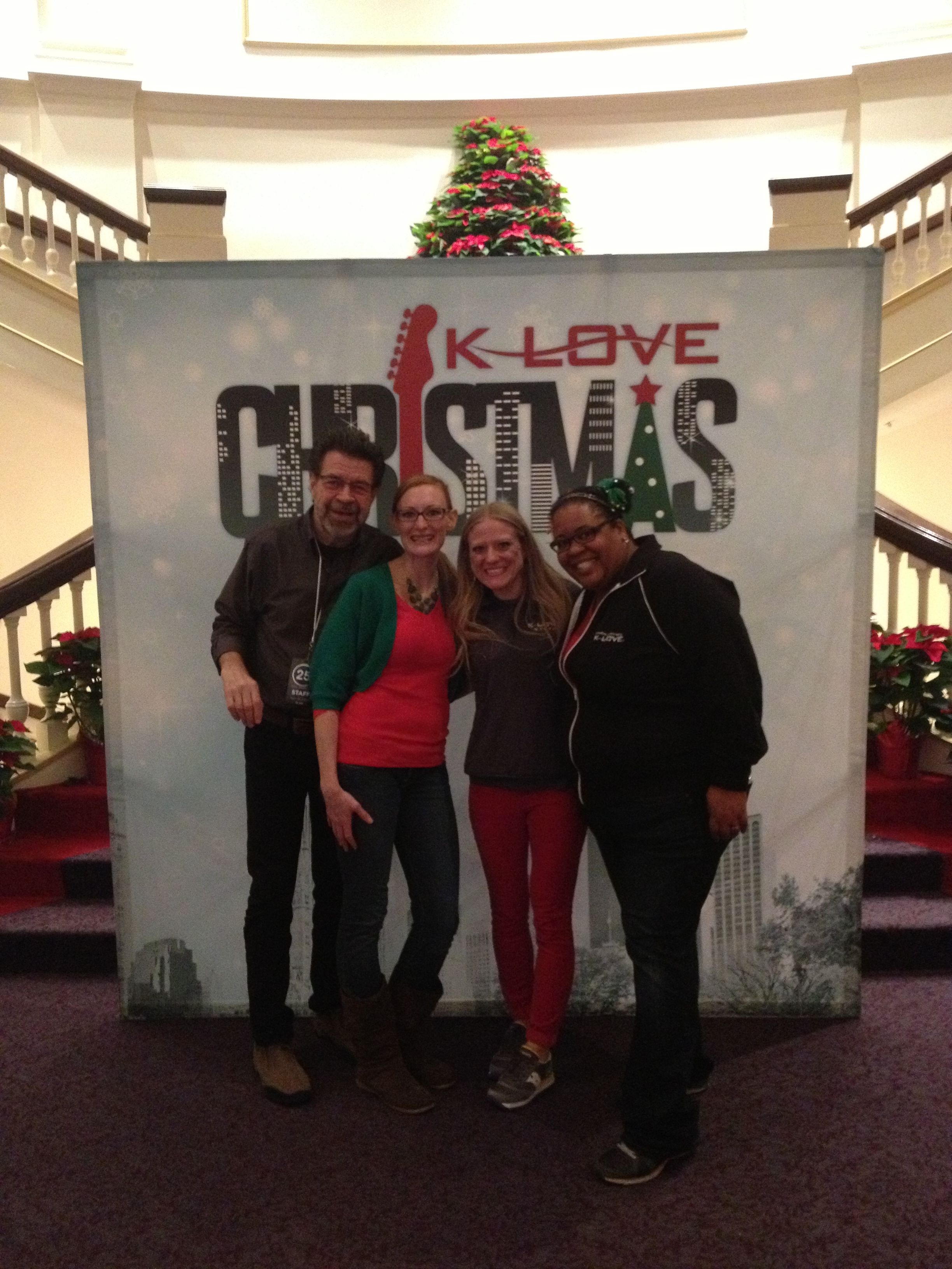 Klove Christmas.Larry And Lauren With The K Love Nashville Team Before The K