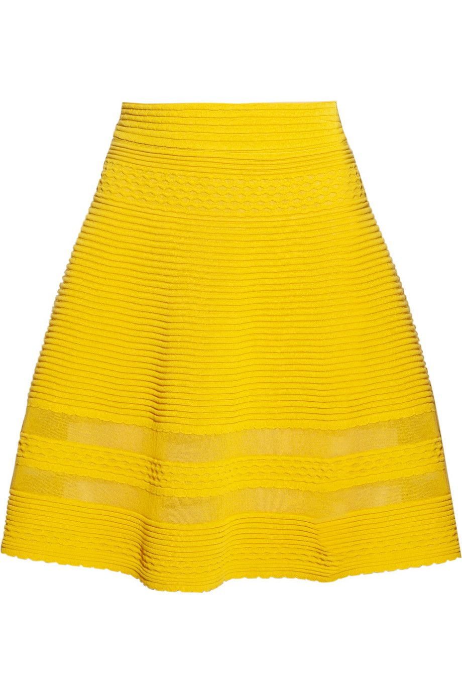 This skirt puts a smile on my face. That yellow exudes happiness.     M Missoni|Cotton-blend A-line skirt|NET-A-PORTER.COM