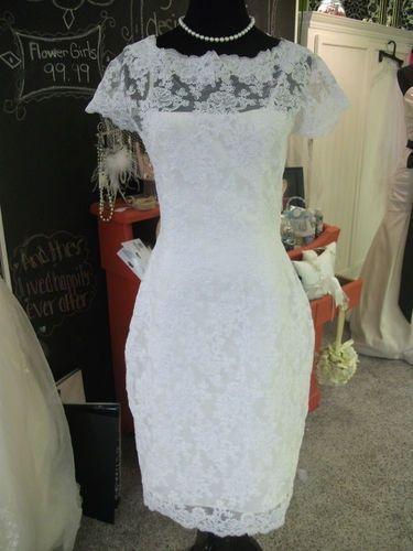 Gorgeous Short Lace Wedding Bridal Shower Dress Custom Size | eBay ...