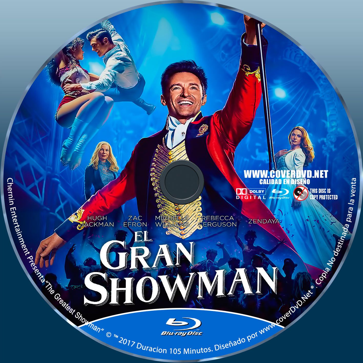 The Greatest Showman Label Bluray The Greatest Showman Greatful Blu Ray