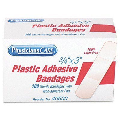 ACM40600 - Plastic Adhesive Bandages by PhysiciansCare. $5.50. Plastic Adhesive Bandages