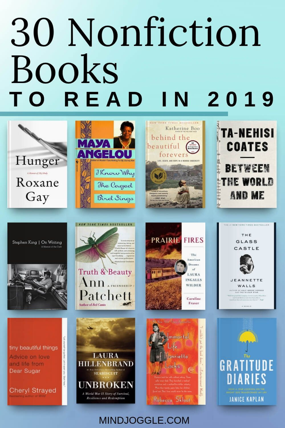 30 Memoirs And Nonfiction Books For Your Reading Bucket List Mind Joggle Books To Read Nonfiction Nonfiction Books Books To Read