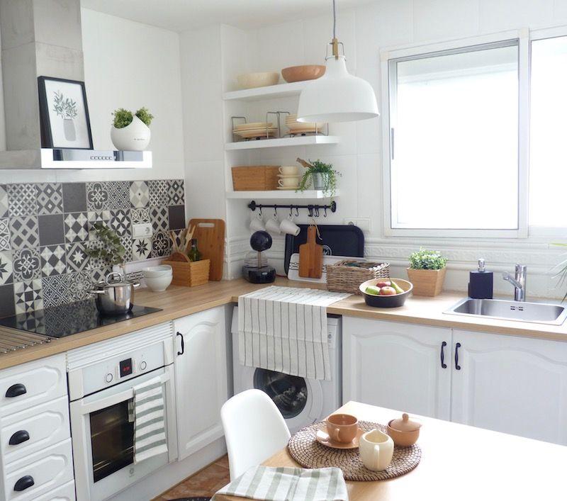 Reforma De Mi Cocina Sin Obras Al Fin Terminada Muebles De Cocina Pintar Muebles Cocina Vinilo Azulejos Cocina