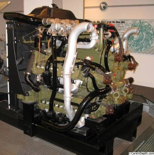 Chrysler A57 Multibank 30 Cylinder Sherman Tank Engine Made From Five Inline Si