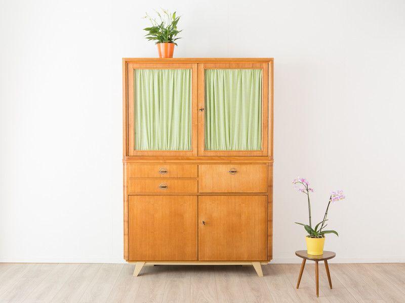 Küchenschrank Vintage ~ 50er 60er omnia teak regalwand regal regalsystem v. hilker string