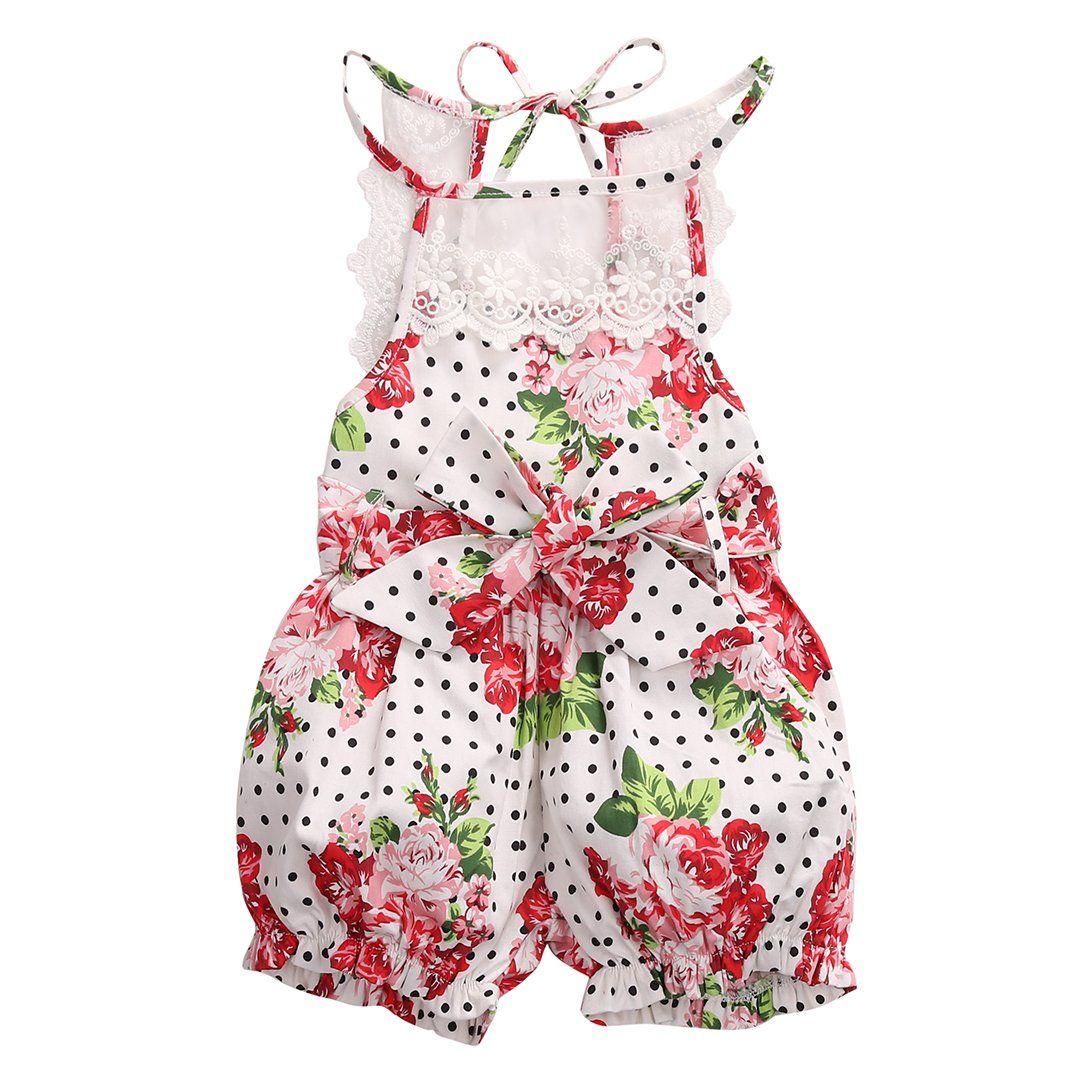 25f79934aeed Newborn Baby Infant Girl Clothes Rose Floral Romper Jumpsuit Bodysuit  Sunsuit (3-6M)