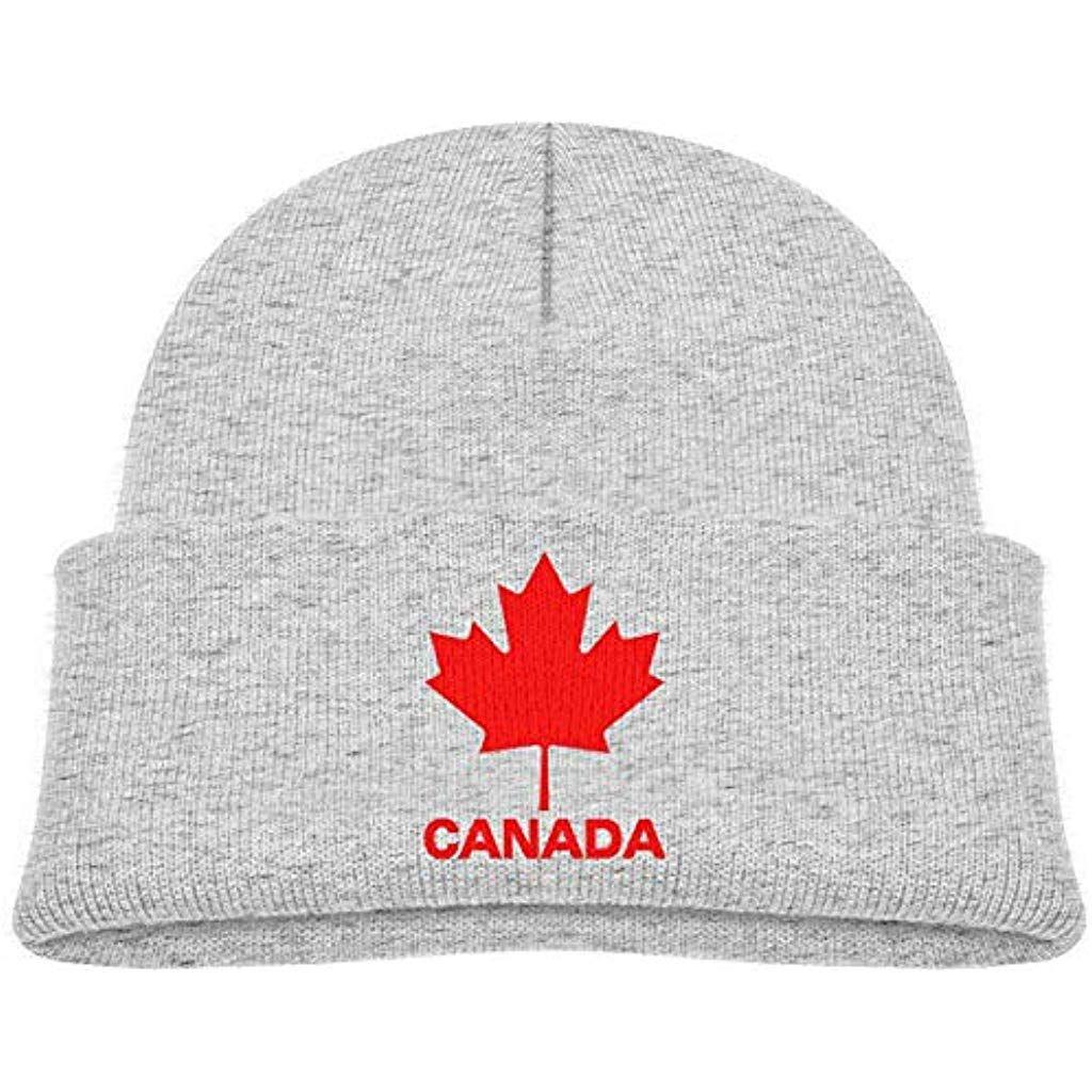 NA Canadian Flag Canada Feuille d/érable Hiver Bonnet T/ête de Mort Casquette Chaud Tricot Ski Slouchy Hat Durable
