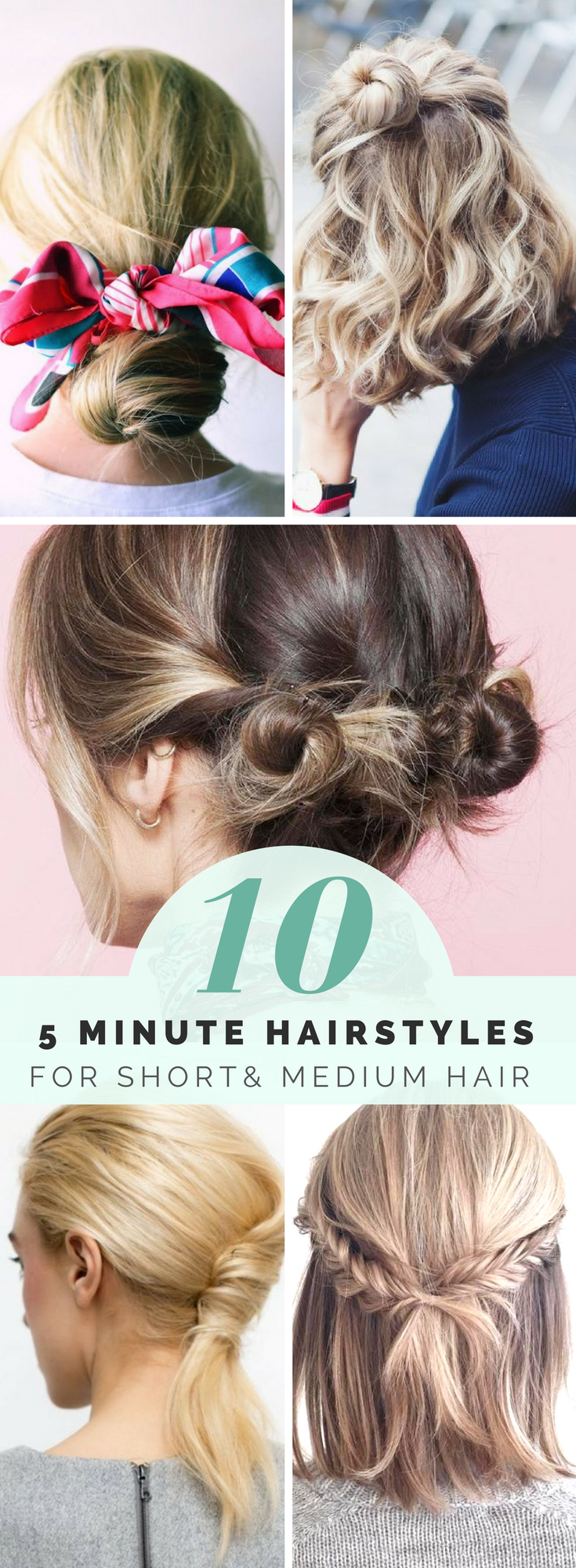 Quick and easy hairstyles for short hair you can do in minutes
