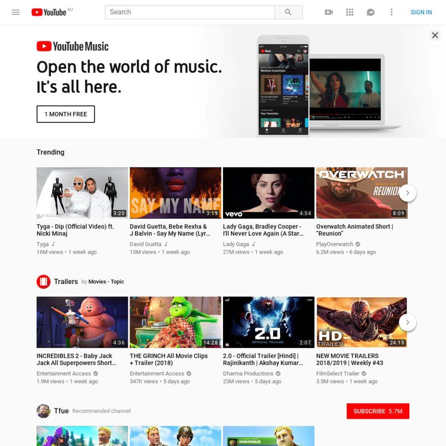 Youtube Premium Ad Free Youtube Youtube Music Google Music For
