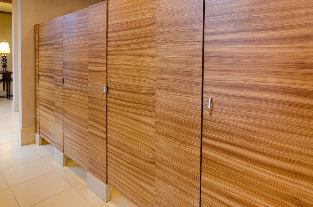 Ironwood Manufacturing Wood Veneer Toilet Partition