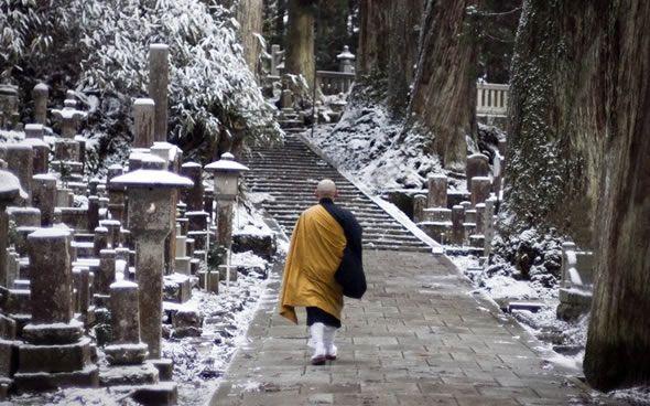 Monk in Koya-san, Japan