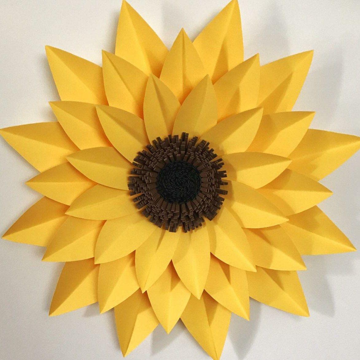pdf paper flowers petal  44 template instant download